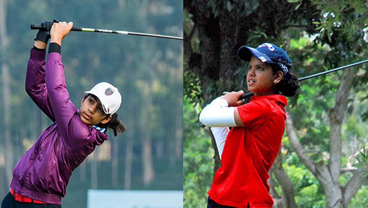 diksha and vani playing golf