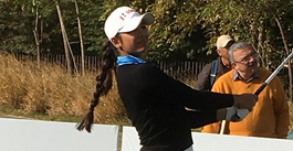 Tvesa Malik playing golf